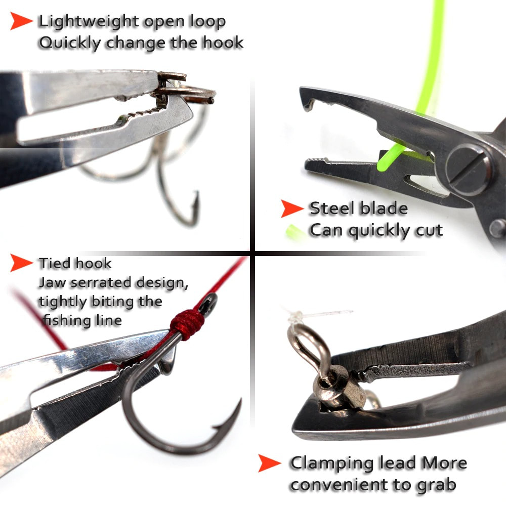 Scissor Fishing Tackle Tool Hook Removers Bait Line Cutter Fishing Pliers